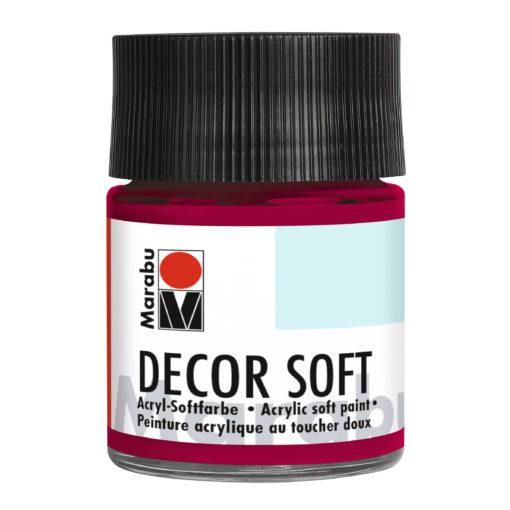 Marabu Decor Soft Acrylfarbe, Rubinrot, 50 ml
