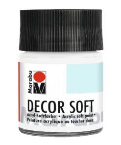 Marabu Decor Soft Acrylfarbe, Weiß, 50 ml