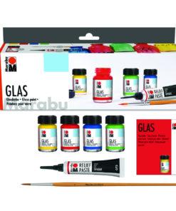 Marabu Glasmalfarben im Starter Set