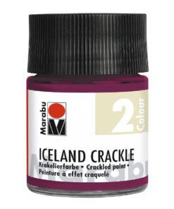 Marabu Iceland Crackle, Krakelierfarbe für Effekte in der Reißtechnik