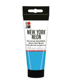 Marabu Tagesleuchtfarbe New York NEON, Neon-Blau, 100 ml