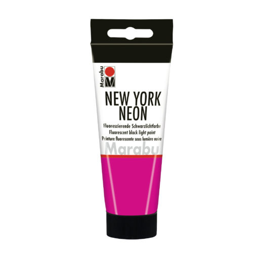 Marabu Tagesleuchtfarbe New York NEON, Neon-Pink, 100 ml
