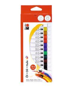 Marabu Ölfarben im Set mit 12 Farben