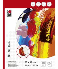 Marabu Malblock für Ölmalerei, 30x40cm