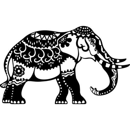 Marabu Schablone Indian Elephant DIN A4