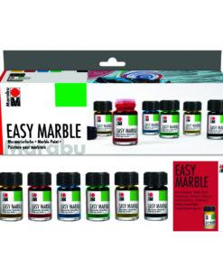 Marabu Easy marble, Marmorierfarben im Set