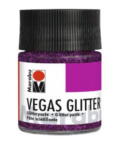 Marabu Effektpaste VEGAS Glitter, Glitter-Violett, 50 ml