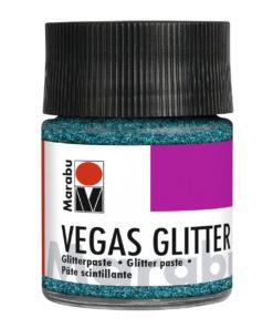 Marabu Effektpaste Vegas glitter, Glitter-Aquablau