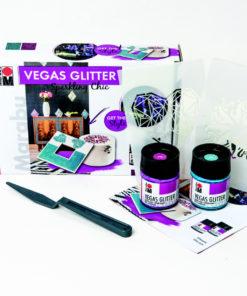Marabu Farbenset, Vegas Glitter, Sparkling Chic