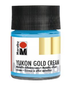 Marabu Metallic-Effektcreme, Yukon Gold Cream, Metallic-Hellblau, 50 ml