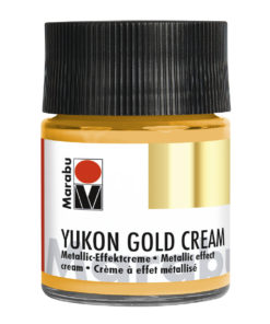 Marabu Metallic-Effektcreme, Yukon Gold Cream, Metallic-Gold, 50 ml