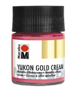 Marabu Metallic-Effektcreme, Yukon Gold Cream, Metallic-Magenta, 50 ml