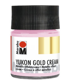 Marabu Metallic-Effektcreme Yukon Gold Cream, Metallic-Rosa, 50 ml