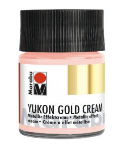 Marabu Metallic-Effektcreme Yukon Gold, Rosé-Gold, 50 ml