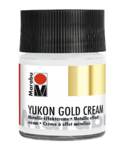 Marabu Metallic-Effektcreme, Yukon Gold Cream, Metallic-Silber, 50 ml