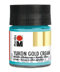 Marabu Metallic-Effektcreme Yukon gold Cream, Metallic-Türkis, 50 ml