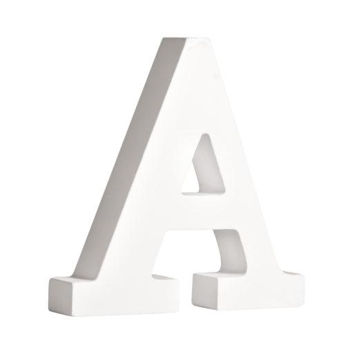 Rayher Pappmaché-Buchstabe A in weiß
