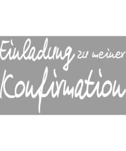 Stempel Einladung zur meiner Konfirmation