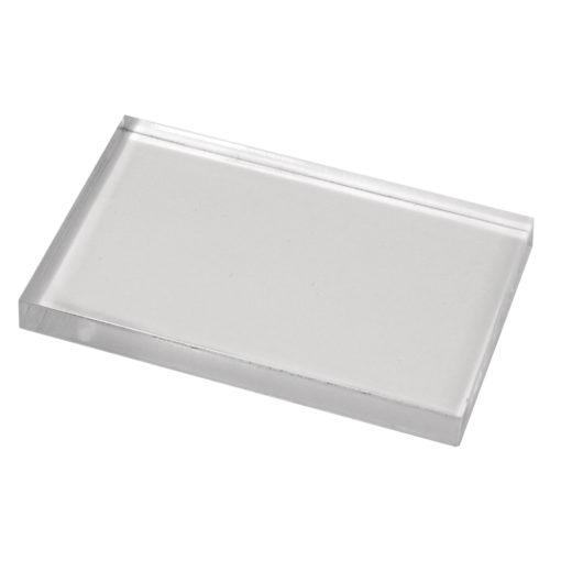 Rayher Acryl-Stempelblock für Scrapbooking, 5x8 cm, 8mm stark