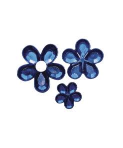 Rayher Acryl-Strassblüten dunkelblau
