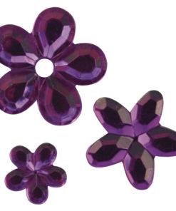 Rayher Acryl-Strassblüten lila
