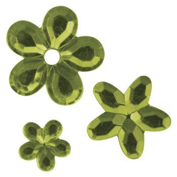 Rayher Acryl-Strassblüten hellgrün