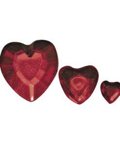 Rayher Acryl-Strassherzen rot