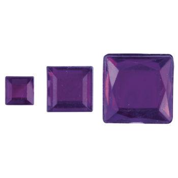 Rayher Acryl-Strassquadrate lila