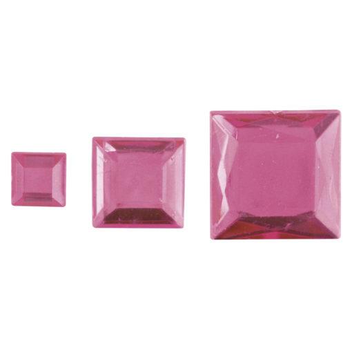 Rayher Acryl-Strassquadrate rosé