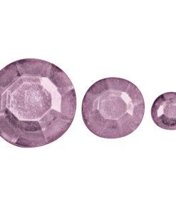 Rayher Acryl-Strasssteine rosé, zum Kleben
