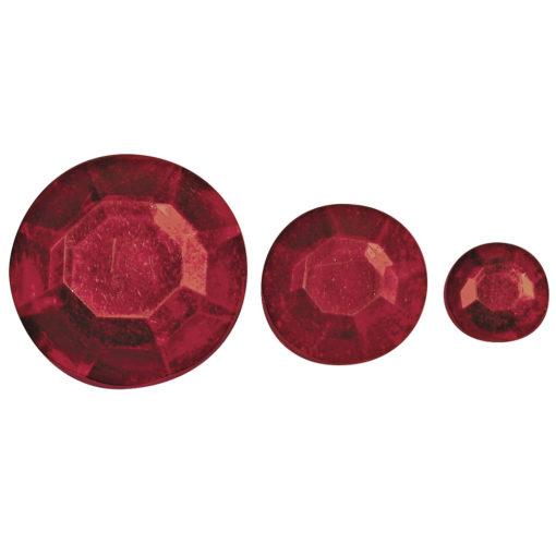 Rayher Acryl-Strasssteine rot, zum Kleben