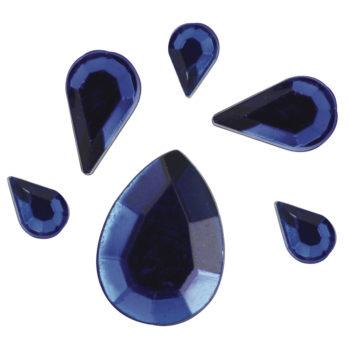 Rayher Acryl-Strasstropfen dunkelblau