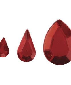 Rayher Acryl-Strasstropfen rot, zum Kleben