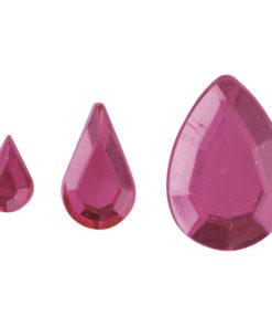Rayher Acryl-Strasstropfen rosé, zum Kleben