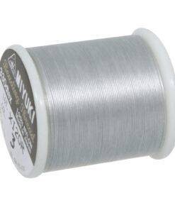 Aufreihgarn für Delica-Rocailles, silber, 0,27mm, Spule 50m