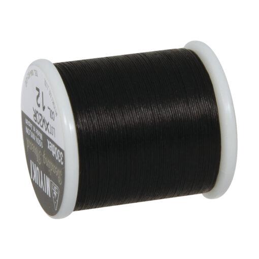 Aufreihgarn für Delicia-Rocailles, schwarz, 0,27mm Ø