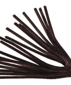 Rayher Chenilledraht, 50 cm, Stärke 9mm, dkl.braun,10 Stück