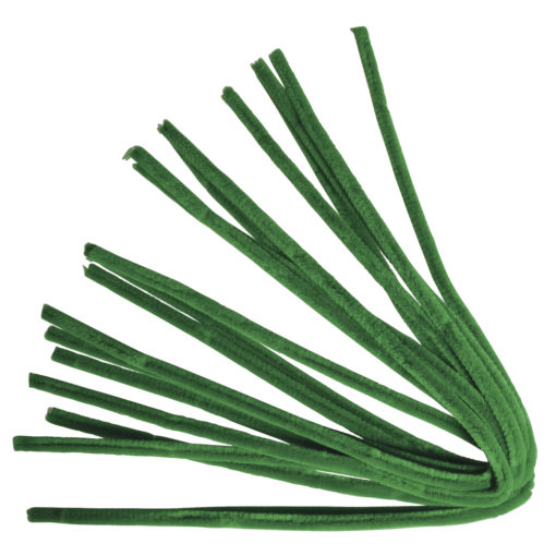 Rayher Chenilledraht grün 50 cm, Stärke 9 mm,10 Stück