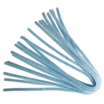 Rayher Chenilledraht hellblau, 50 cm, 9 mm, 10 Stück