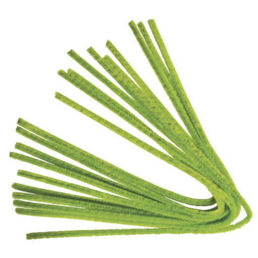 Rayher Chenilledraht hellgrün, 50 cm, Stärke 9mm,10 Stück
