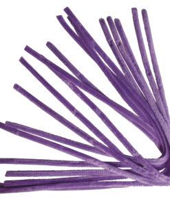 Rayher Chenilledraht lila, 50 cm, Stärke 9 mm, 10 Stück