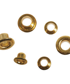 Rayher Easy Eyelets rund, gold, 4+8mm, 75 Stück