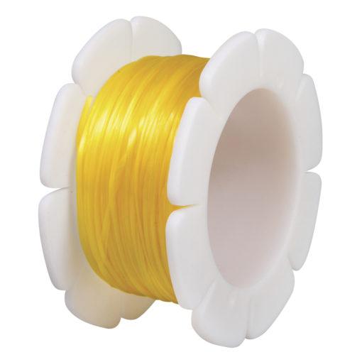Rayher Elasticfaden 1mm, gelb, Spule 5 m