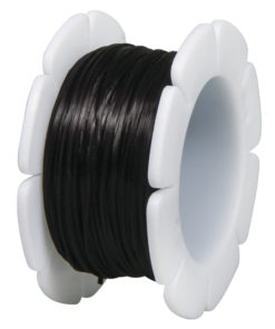 Rayher Gummifaden, 1mm, schwarz, Spule 5m