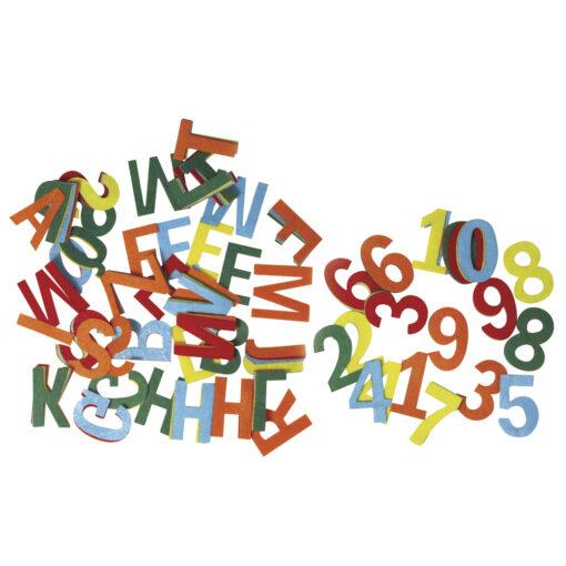 Zahlen-und Buchstabenmix aus Filz