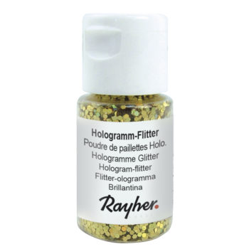 rayher hologramm flitter brillant-gold