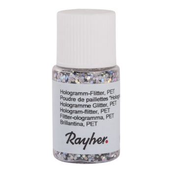 rayher hologramm-flitter brillant silber