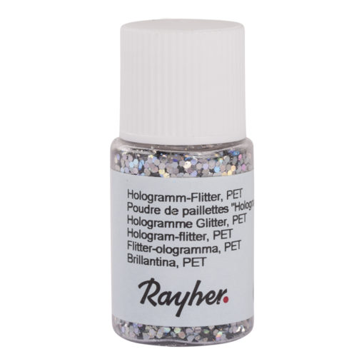 rayher hologramm-flitter brillant silber