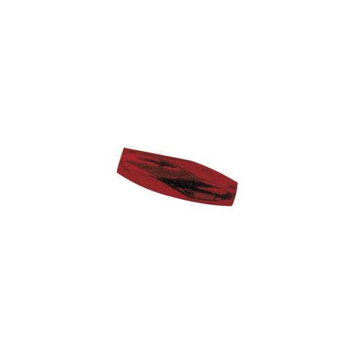 Böhmische Glas-Gersten, facettiert, rot matt