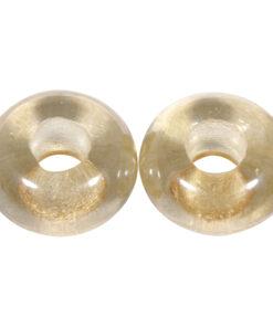 Glas Grosslochperlen zur Schmuckgestaltung in karamell transparent